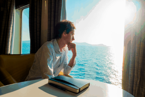 travel writer on a cruise