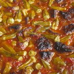 okra soup with meat from bosnia