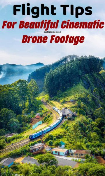 drone flying over moving train
