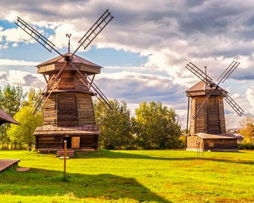 Old mills in Suzdal, Russia