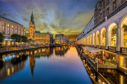City Hall of Hamburg, Germany.