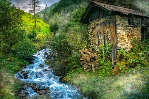 Old grist mill in the Austrian Alps- Ultimate Austria Travel Guide