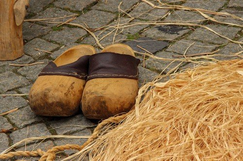 Traditional Holland wooden shoes - netherlands regional travel guide
