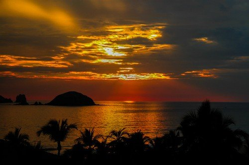 Mexico sunset.