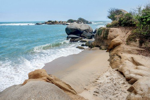 Beach at Tayrona National Park Santa Marta in Colombia - ultimate colombia travel guide