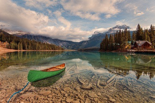 Emerald Lake is located in Yoho National Park, British Columbia, Canada.[1] It is the largest of Yoho's 61 lakes and ponds, as well as one of the park's premier tourist attractions.