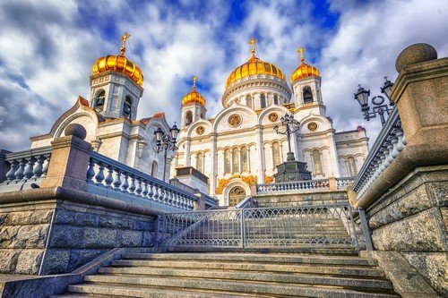 Christian orthodox cathedral of Jesus the Saviour in Moscow, Russia