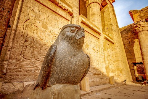God Horus at the temple of Edfu in Egypt- Ultimate Egypt Travel Guide