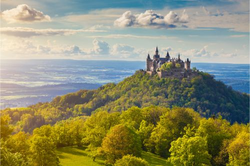 Hohenzollern Castle at sunset, Baden-Württemberg, Germany. - Ultimate Germany Travel Guide