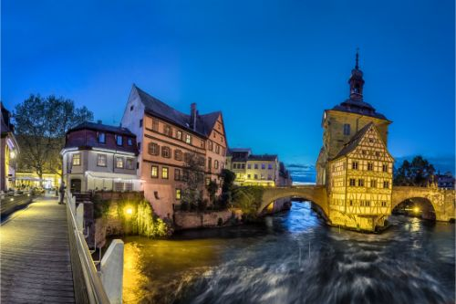 Panorama of Old Town Hall of Bamberg, Germany.