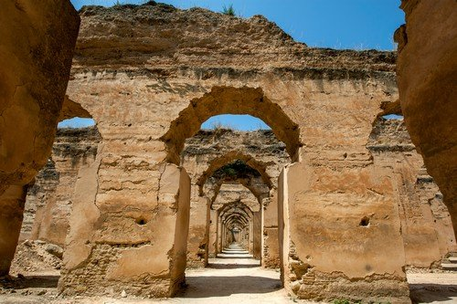 Ruins of the stables at Heri es-Souani in Meknes, Morocco. - ultimate morocco travel guide
