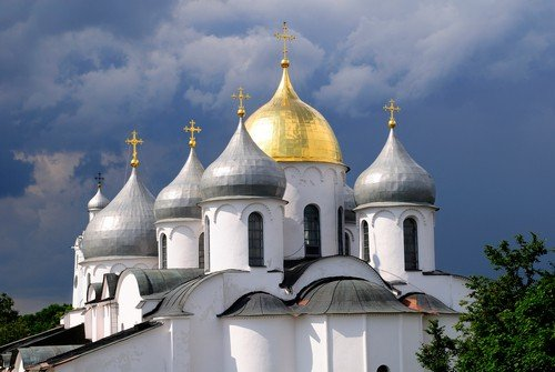 St. Sophia the Holy Wisdom of God cathedral in Novgorod, Russia.