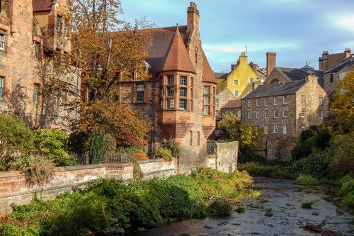 Street and streams in Scotland