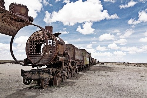 The cemetary of trains. - ultimate bolivia travel guide