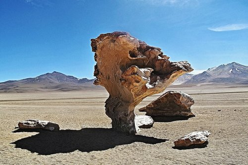Unique stone formations on what was probably the ocean floor at one time
