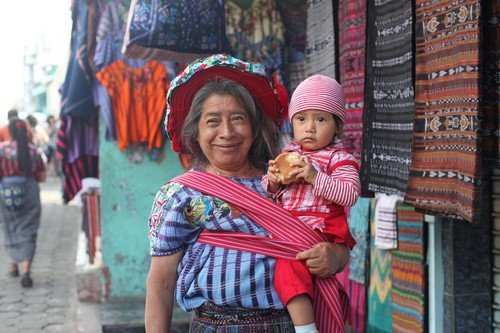 Woman and baby. guatemala travel guide