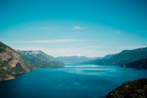 Lake in the Andes of Argentina