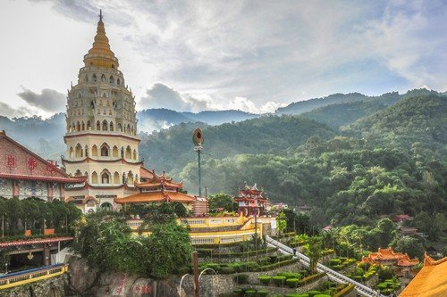 Temple in George Town, Penang, Malaysia budget travel guide