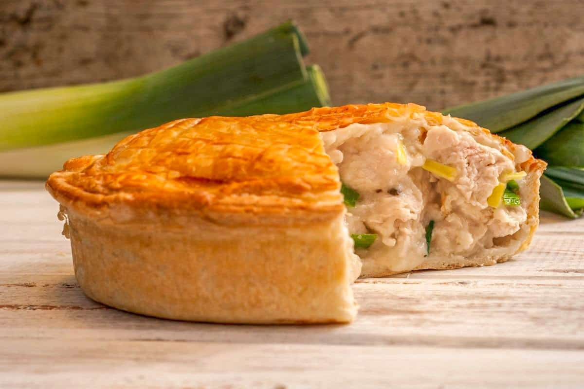 Chicken and Leek Pie - Traditional England Foods