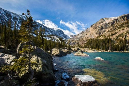 Snow and Water in Rocky Mountain National Park