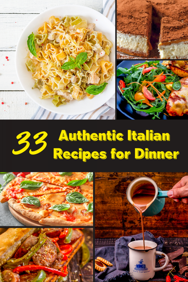 Traditional Italian Recipes Collage