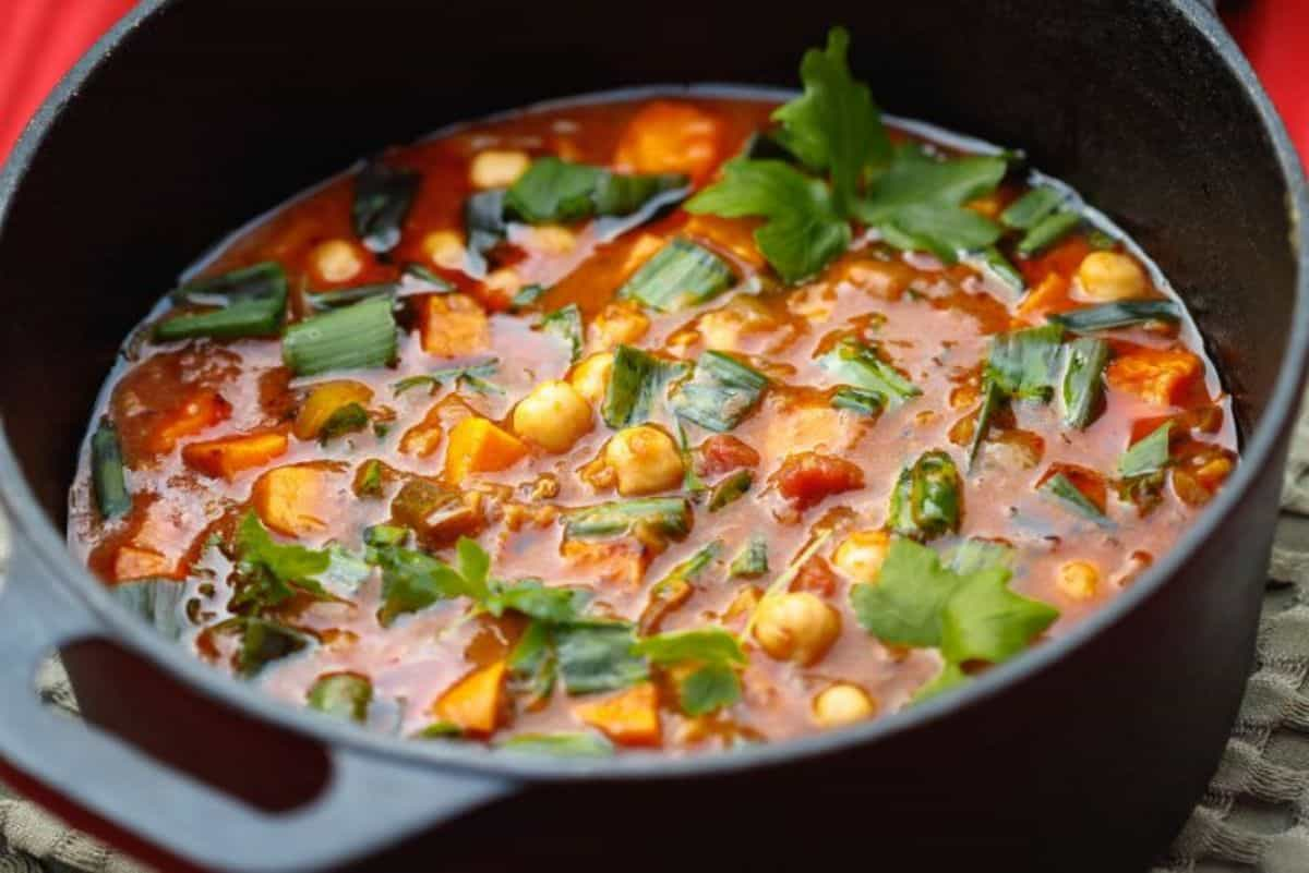 1. chickpeas and sweet potatoes