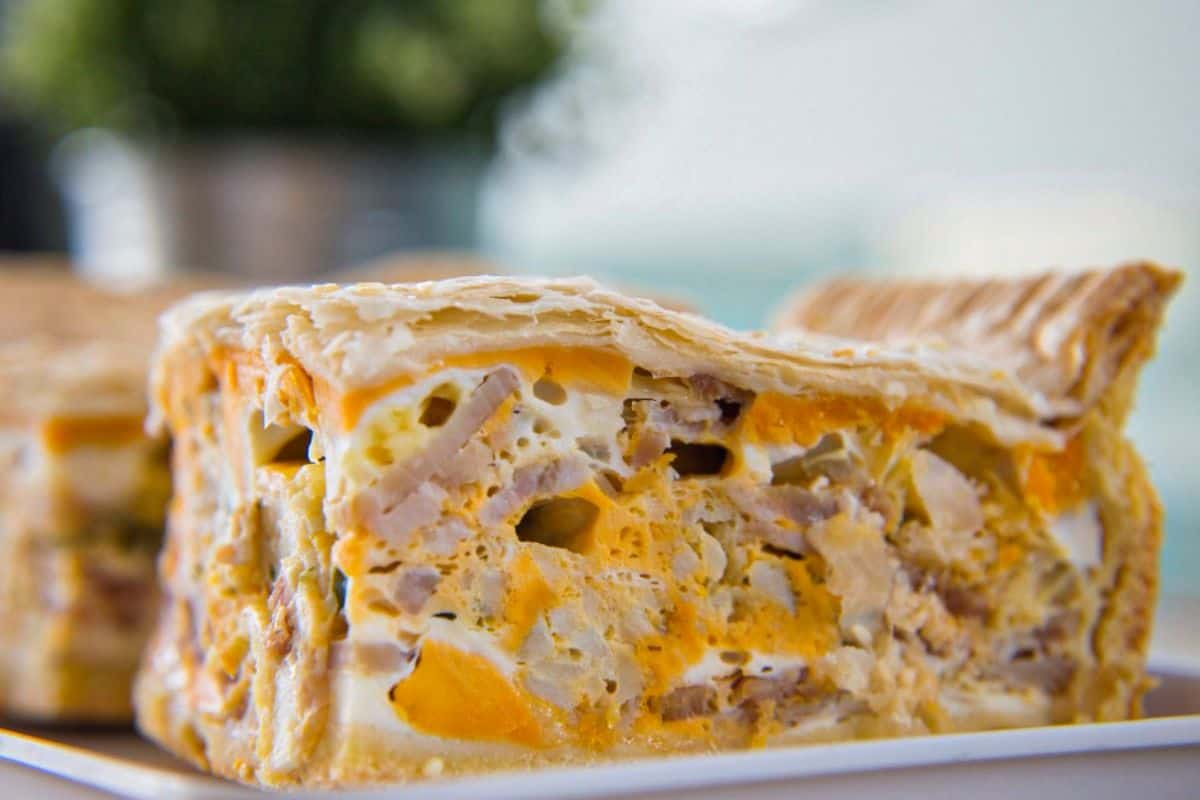 11. Cheesy Bacon and Egg Pie