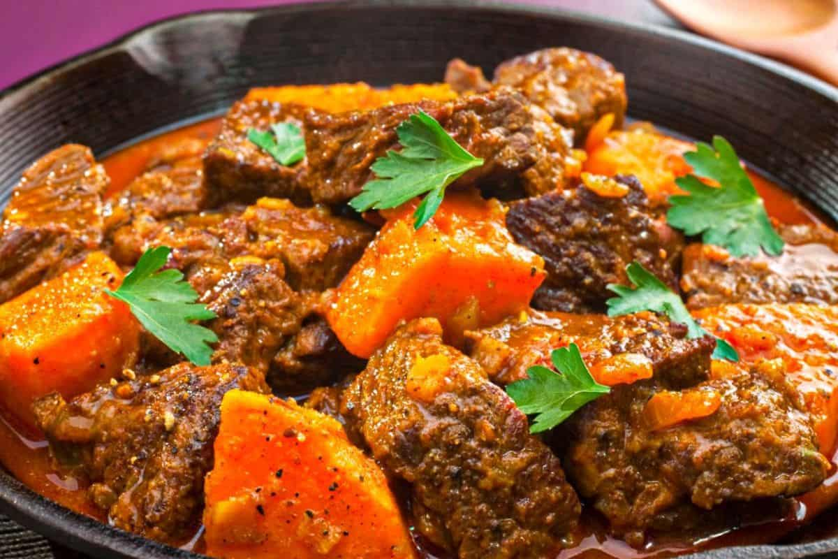 2. Beef Moroccan Tagine With Squash, Sticky Prunes & Chickpeas