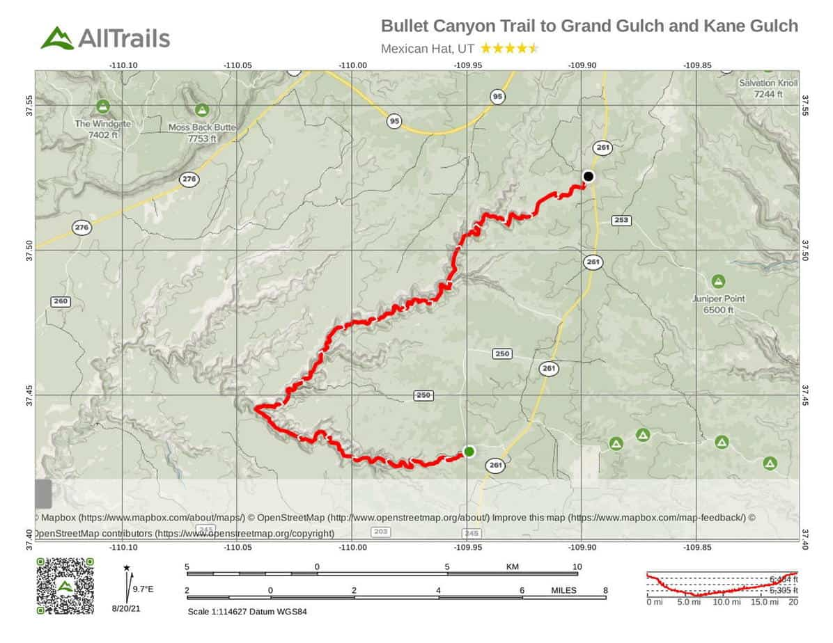 3 Bullet Canyon Trail to Grand Gulch and Kane Gulch-1 at Bear Ears National Monument