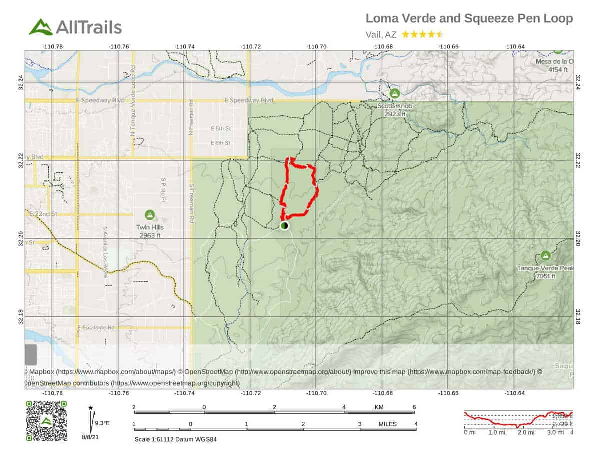 5. Loma Verde and Squeeze Pen Loop-1 - Best Hikes in Sauguaro National P