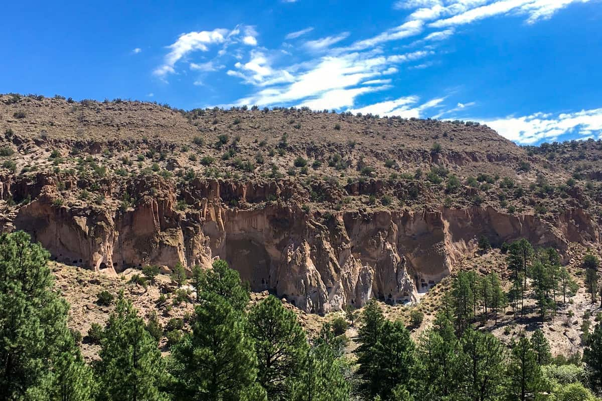 1. Burro Trail camping bandelier national monument