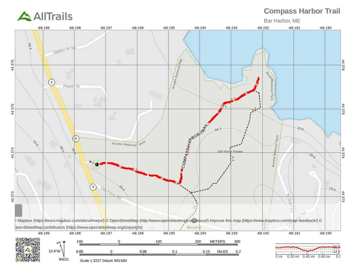 1. Compass Harbor Trail in Acadia National Park-1