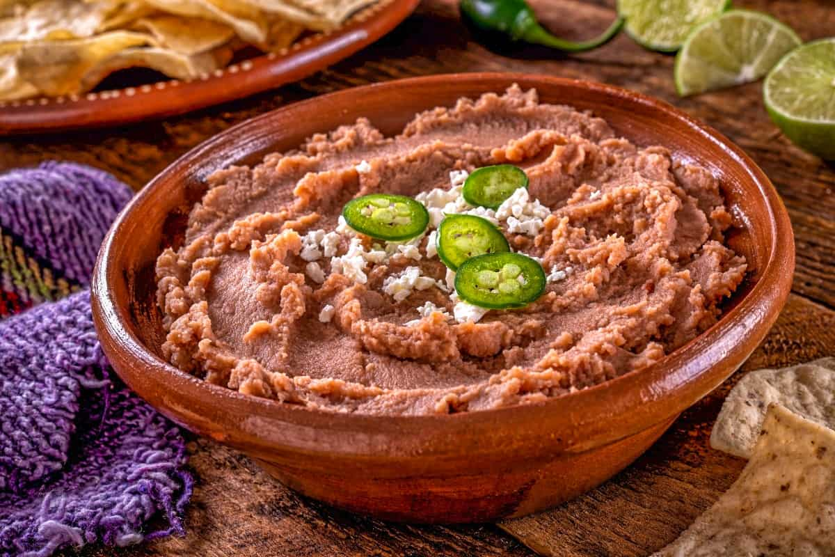 17. Frijoles Volteados (Refried Beans) - Guatamelan Dishes