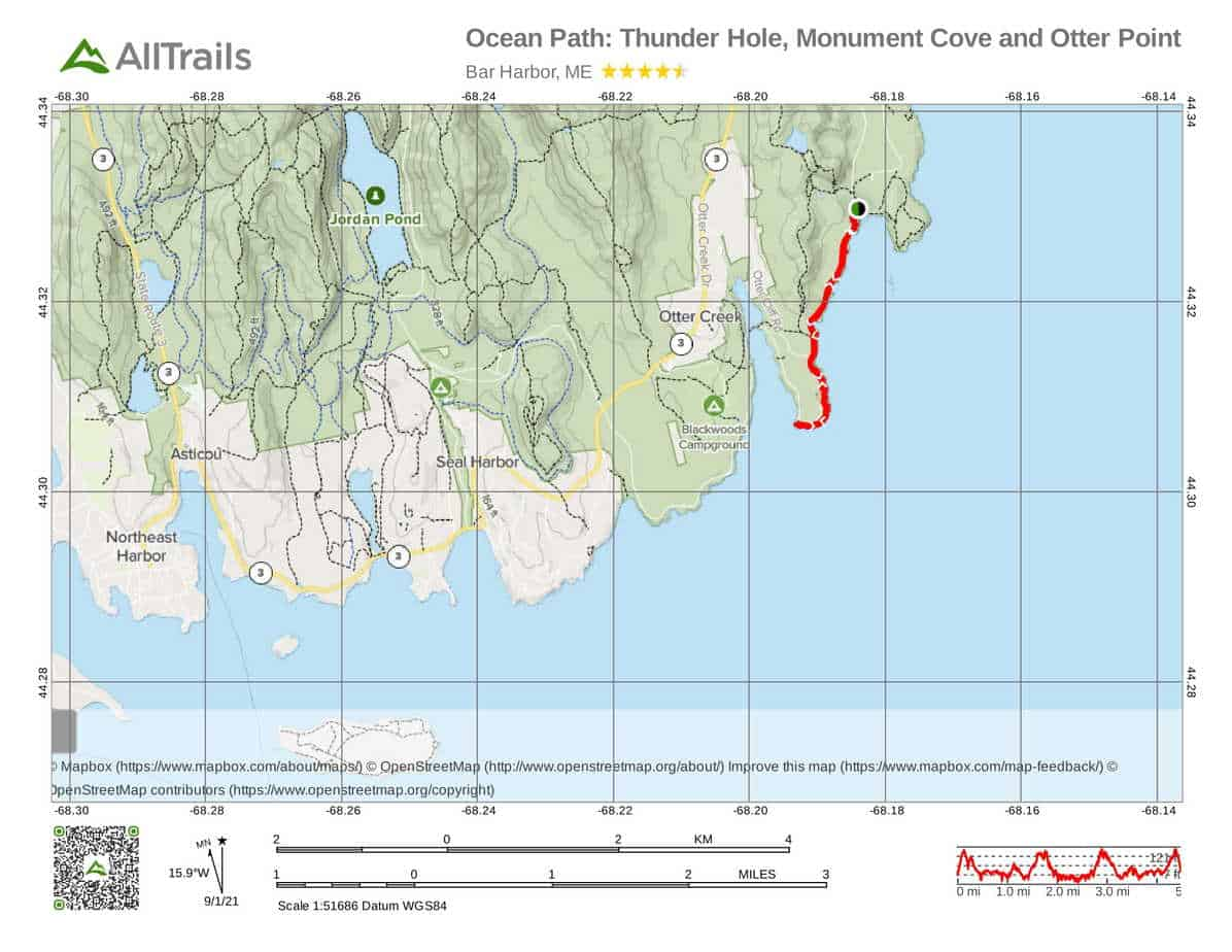 6. Ocean Trail To Thunder Hole, Memorial Cove and Otter Point-1 Acadia National Park