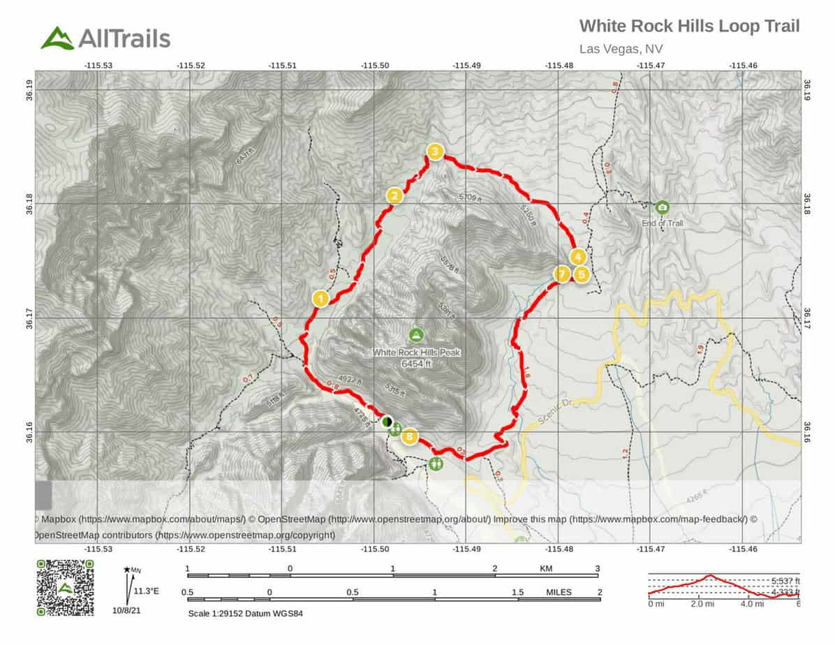 12. Red Rock Canyon Trails White Rock Hills Loop - interactive map-1
