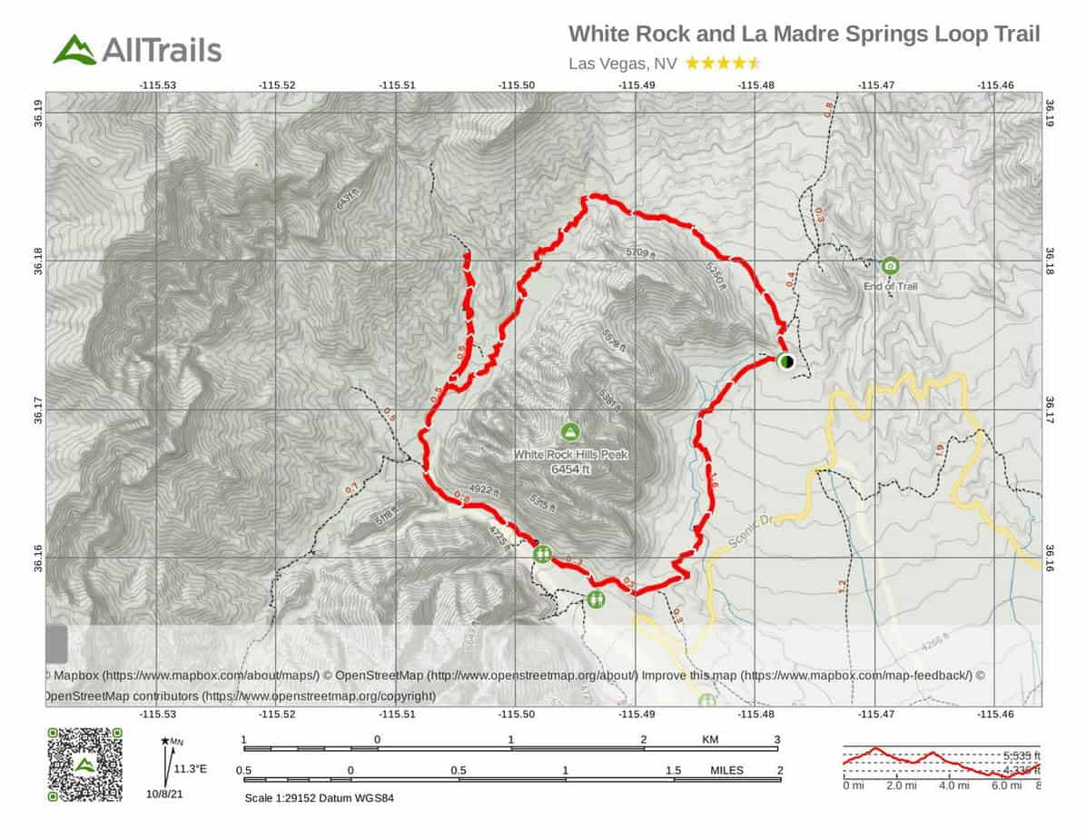 4. Red Rock Canyon Trails at White Rock and La Madre Springs Loop-1