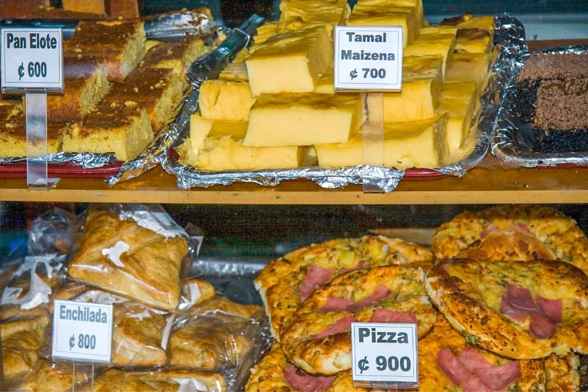 Typical foods sold by Costa Rica venders